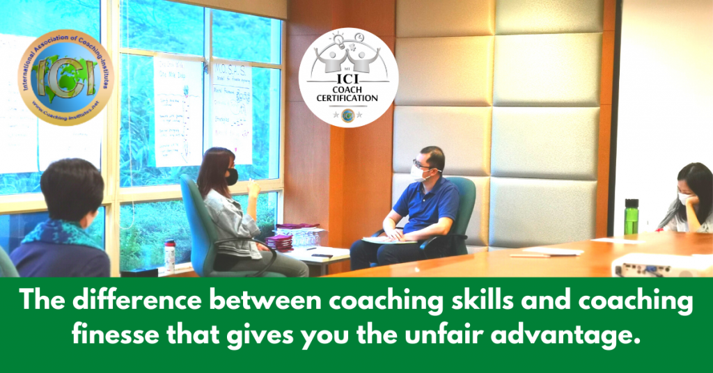 ICI coaching certification finesse that gives you unfair advantage