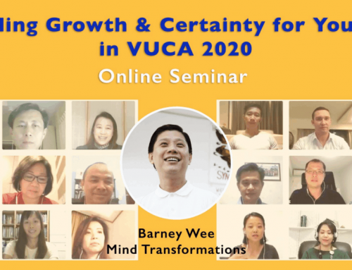 Online Training on 12-12-2019: Building Growth & Certainty for yourself in VUCA 2020